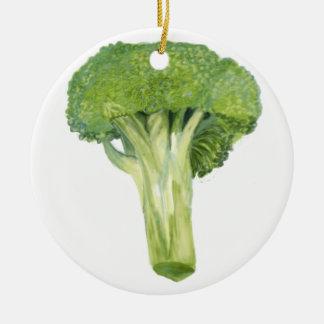 broccoli ceramic ornament