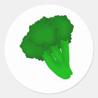 Broccoli Classic Round Sticker