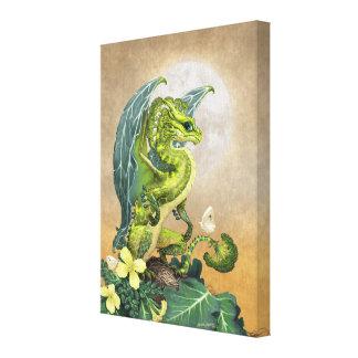 Broccoli Dragon 8x10 Canvas Print