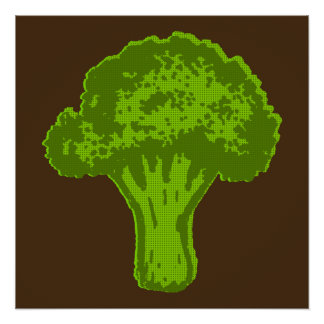 Broccoli Graphic Poster
