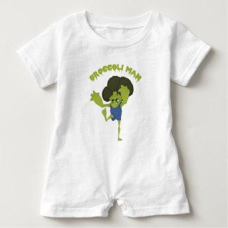 Broccoli Man Baby Romper
