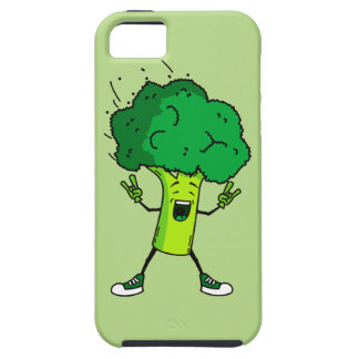 Broccoli rocks! Cool vegetable cartoon Case For The iPhone 5