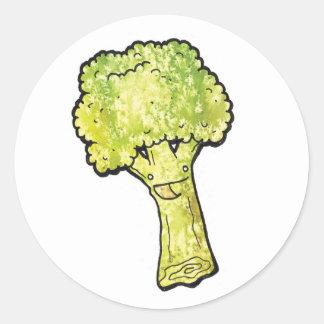 broccoli round sticker