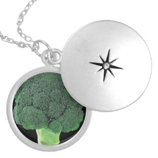 Broccoli Silver Plated Round Locket