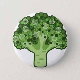 Broccoli Vector Icon 2 Inch Round Button