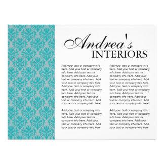 Brochure de dessinateur d intérieurs de trois fois