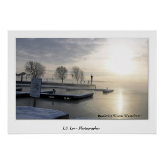 Brockville Winter Waterfront Poster