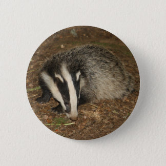 Brockwatch badger badge 2 inch round button