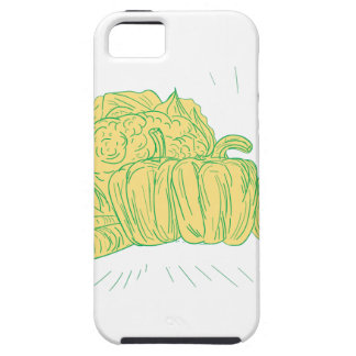 Brocolli Capsicum Onion Drawing Case For The iPhone 5