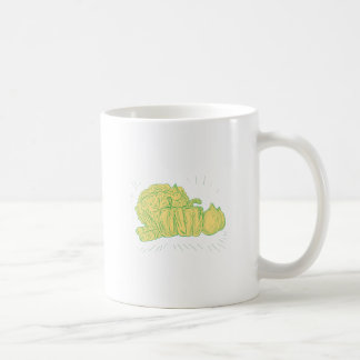 Brocolli Capsicum Onion Drawing Coffee Mug