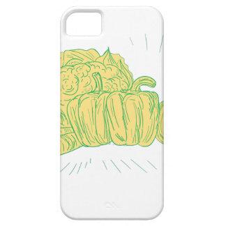 Brocolli Capsicum Onion Drawing iPhone 5 Covers