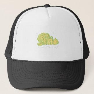 Brocolli Capsicum Onion Drawing Trucker Hat