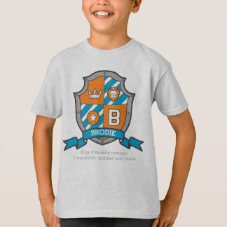 Brodie boys B name & meaning knights shield T-Shirt