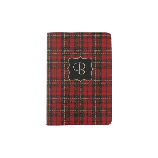 Brodie Clan Plaid Personalized Passport Holder