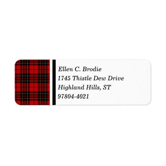 Brodie Clan Red and Black Scottish Tartan