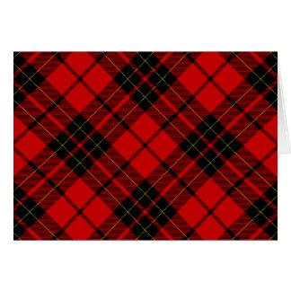Brodie clan tartan red black plaid card