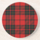 Brodie clan tartan red black plaid coaster
