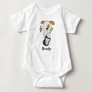 Brodys Rock and Roll Puppy Baby Bodysuit