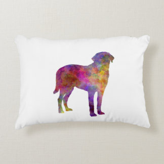 Broholmer in watercolor accent pillow