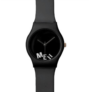 Broke Black Monogrammed Watch