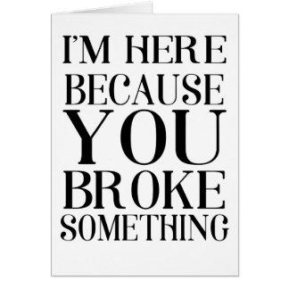 broke card