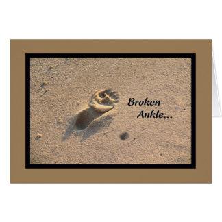 Broken Ankle card, Beach Sand Card