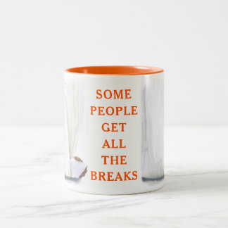 broken arm Two-Tone coffee mug