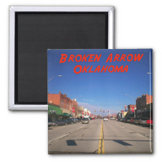 Broken Arrow Oklahoma Downtown View Magnet