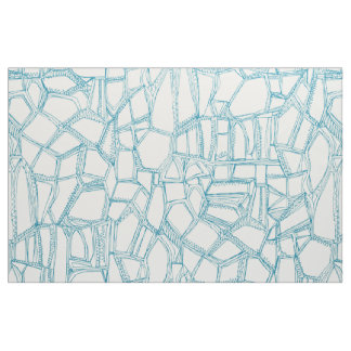 BROKEN blue off white Fabric