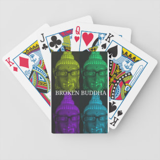 Broken buddha 4 square1 bicycle playing cards