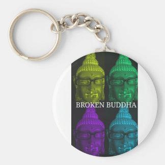 Broken buddha 4 square1 keychain