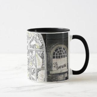 Broken But Not Shattered Black filled Ringer Mug