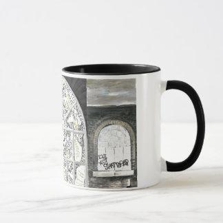Broken But Not Shattered Black handled Mug