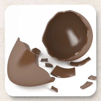 Broken chocolate egg coaster