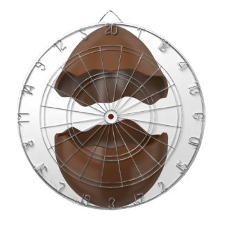 Broken chocolate egg dartboard