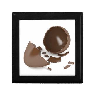 Broken chocolate egg gift box