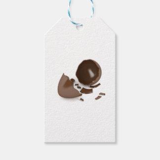 Broken chocolate egg gift tags