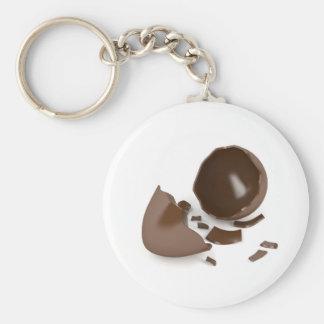 Broken chocolate egg keychain
