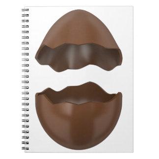 Broken chocolate egg notebook