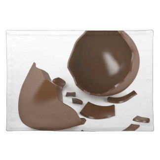Broken chocolate egg placemat