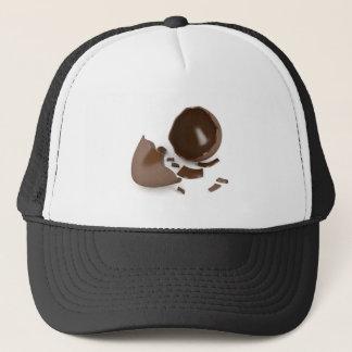 Broken chocolate egg trucker hat