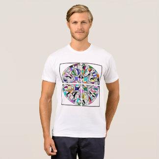 broken colourful mandala t-shirt