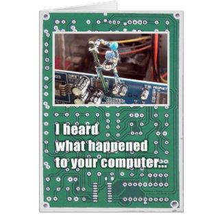 Broken Computer Sympathy Card (Responsible)