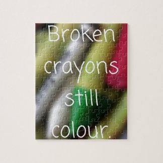 Broken Crayons quote Jigsaw Puzzle