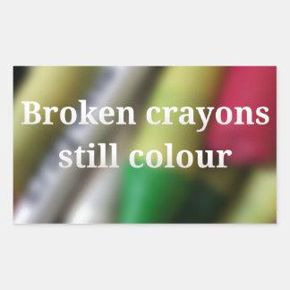 Broken Crayons quote Sticker