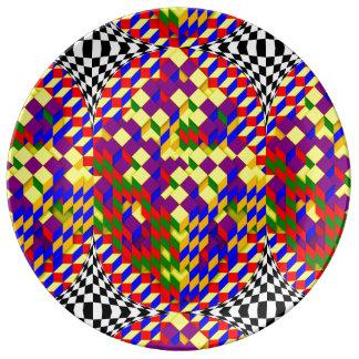 Broken Cube w/ Shadow by Kenneth Yoncich Plate