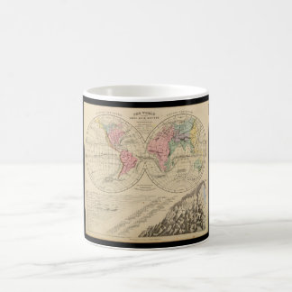 Broken down World Map_Maps of Antiquity Coffee Mug