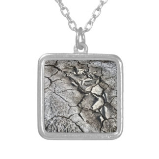 Broken Earth Silver Plated Necklace