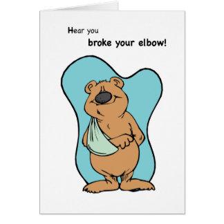 Broken Elbow Bear Card