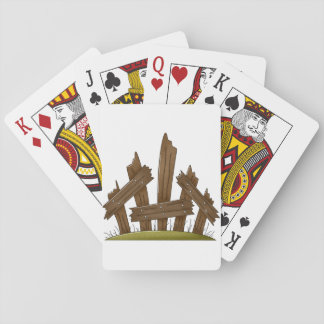 Broken Fence Playing Cards